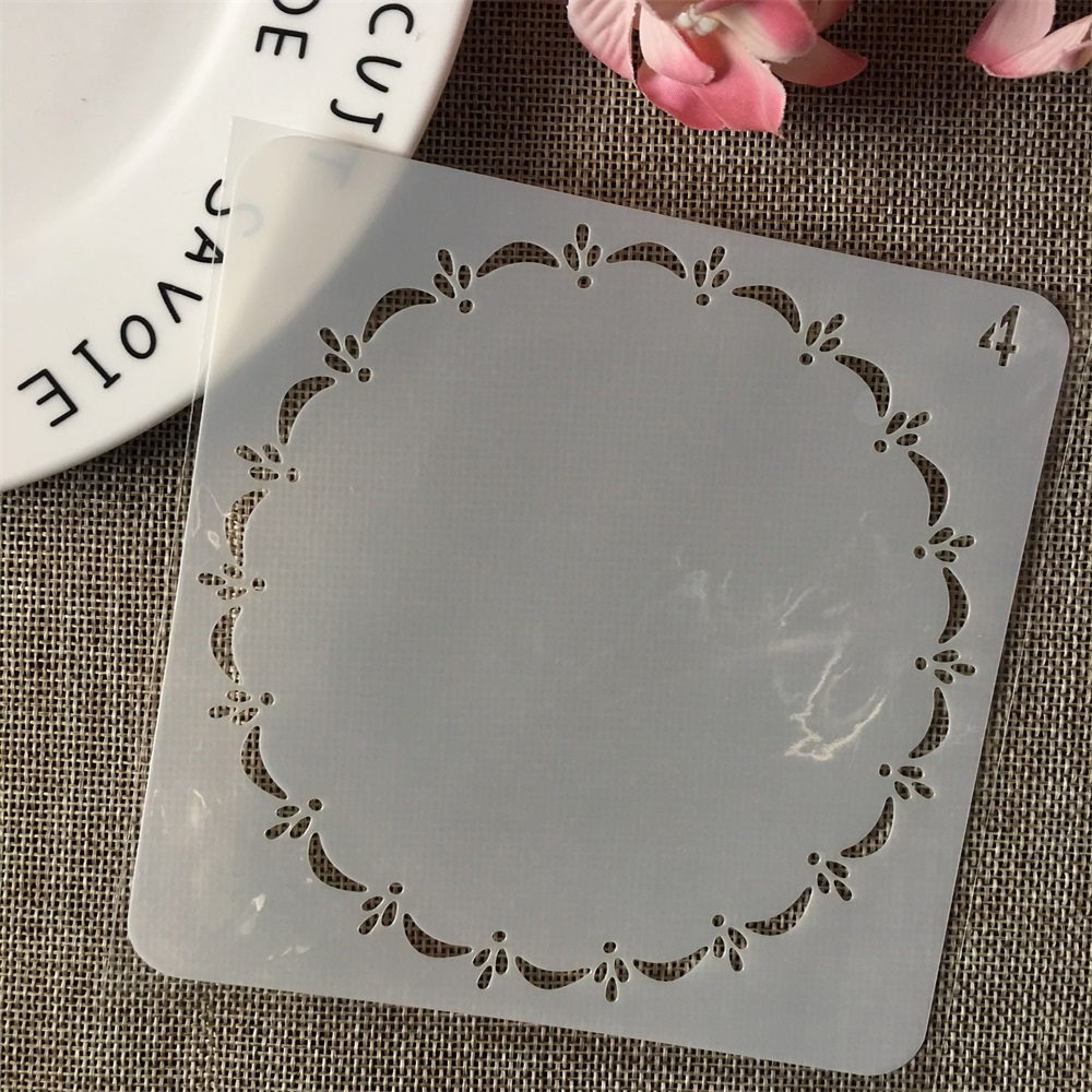 13cm Circle Round Line DIY Layering Stencils Wall Painting Scrapbook Coloring Embossing Album Decorative Card Template