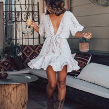 Letnia sukienka kobiety Vestidos casualowy krawat barwnik odzież szata Femme Chic sukienki plażowe szyfonowa jesień Maxi sukienka 2020 kobieca sukienka tanie tanio RXRXCOCO Poliester -Line Osób w wieku 18-35 lat AX415 V-neck Krótki Spaghetti pasek WOMEN Przycisk Czeski Naturalne Zwierząt