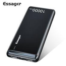 Essager 10000 мАч тонкий внешний аккумулятор портативное Внешнее зарядное устройство для iPhone Xiaomi Redmi Mi 8 10000 мАч двойной USB светодиодный внешний аккумулятор