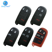 Fob Charger Remote-Key-Shell Durango Dodge Challenger Okeytech Case Insert-Blade Chrysler Pacifica