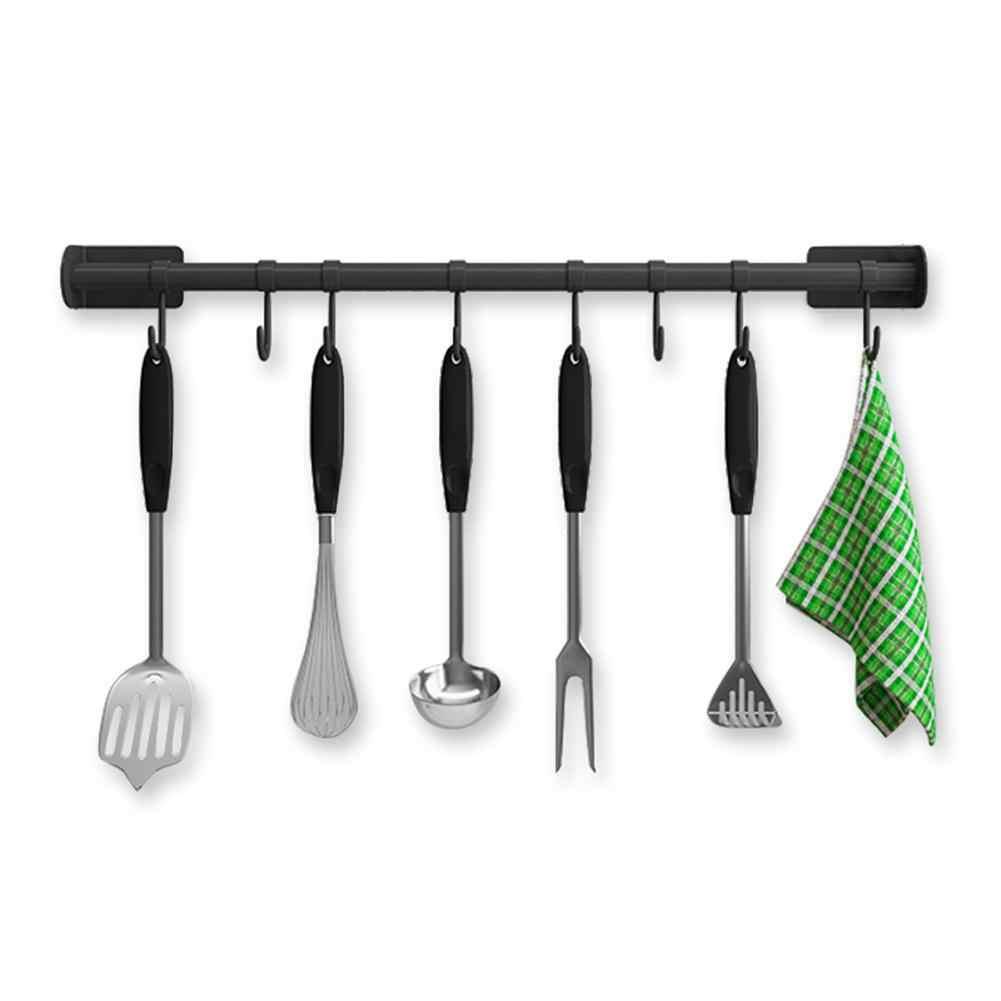 Kitchen Rail Organizer Wall Mounted Pot Bar Stainless Steel Hanging Kitchen Utensils Rack For Pans Chopping Board Racks Holders Aliexpress