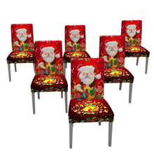 Christmas Dining Dinner Table Chair Back Cover Decoration Santa Claus Snowman Red Cap Ornament Covers Decor