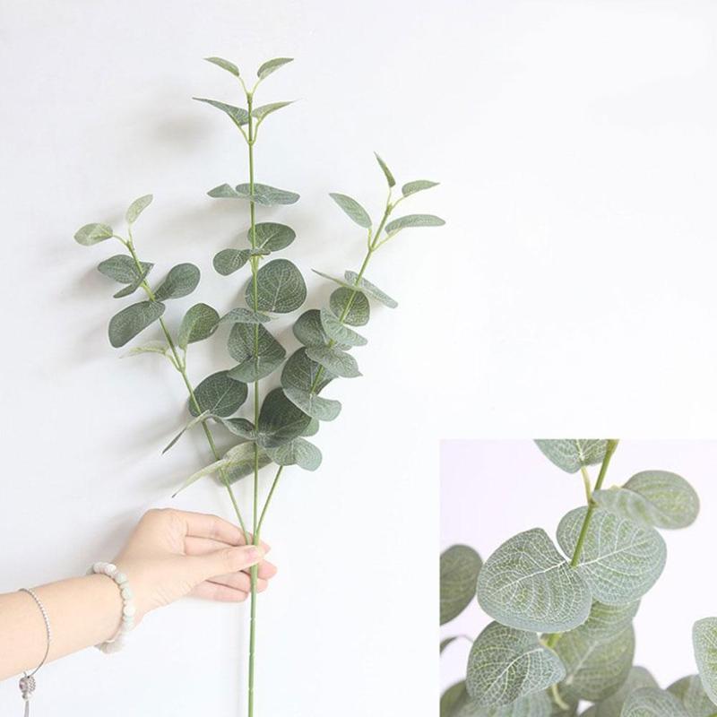 Künstliche Gefälschte Blatt Eukalyptus Grün Pflanzen Silk Blumen Nordic Wohnkultur