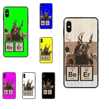 Soft TPU Black Case Cover For iPhone 11 12 Pro 5 5S SE 5C 6 6S 7 8 X 10 XR XS Plus Max Chemistry Bear Discovered Beer image