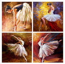Diamond Painting Ballerina Diamond Embroidery Ballet Picture Of Home Decor Diamond Painting(China)