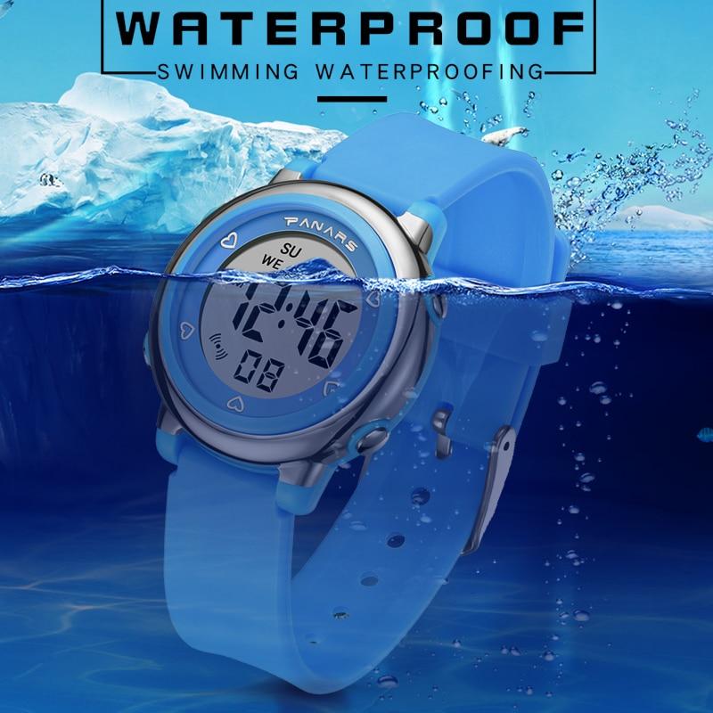 Черный дети часы мальчики SYNOKE бренд студент часы 50 м водонепроницаемый силикон цифровой часы спорт многофункциональный дети часы