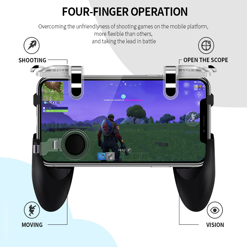 RETROMAX For PUBG Controller Triger PUBG Mobile Gaming Joystick For Android/iPhone Shooting/Moving/Opening Map Button