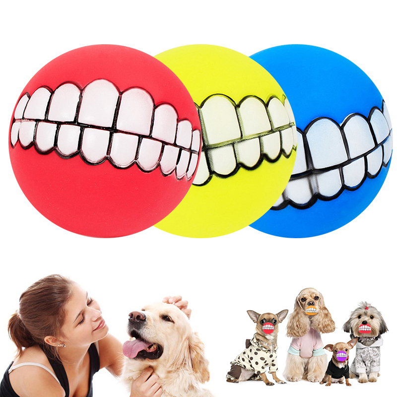 Funny Pets Dog Puppy Cat Ball Teeth Chew Toys Dogs Toys Squeaking Pet Supplies Petshop Play Popular Toys for Small Large Dogs 8