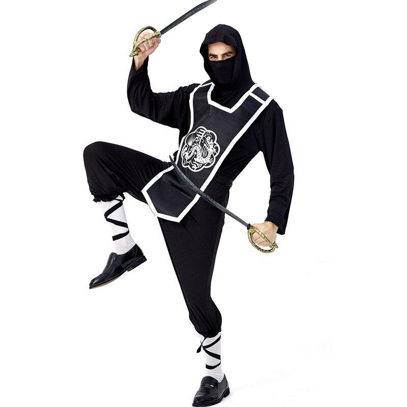 Mens Ninja Master Costume Japanese Martial Arts Assassin Halloween Fancy Dress