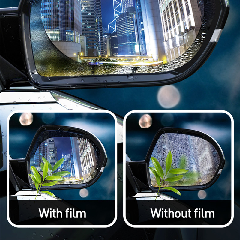 Image 2 - Baseus 2 Pcs 0.15mm Car Rearview Mirror Window Clear Film Anti Fog Window Foils Rainproof Protective Car Sticker-in Car Stickers from Automobiles & Motorcycles