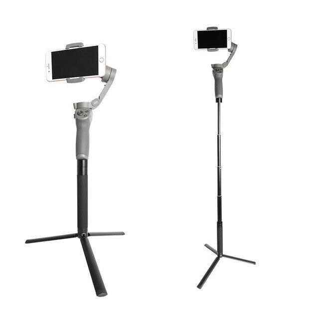 Stativ und Erweiterung Pole Set, handheld Selfie stick für Gimbal Stabilisator/DJI Osmo Mobile 3 2/ZHIYUN/Feiyu Montieren Zubehör