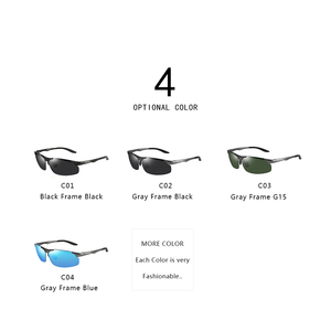Image 4 - PARZIN Men Polarized Sunglasses for Driving Fishing Top Quality Aluminum Magnesium Sun Glasses Anti UV400 Outdoor Eyewear