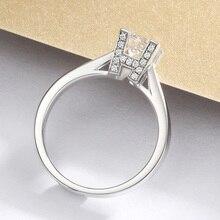 14K White Gold Creative design 4 claws Moissanite Ring 1CT Engagement HW English Alphabet Custom Made VVS1
