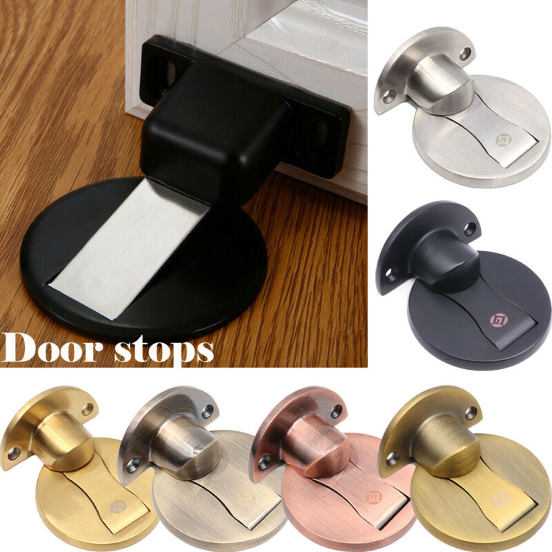 2020 Creative Door Stops1pcs DoorStops Invisible Anti-collision Punch Stainless Steel Magnetic Home Office