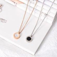 Модное женское ожерелье из нержавеющей стали ожерелья для женщин