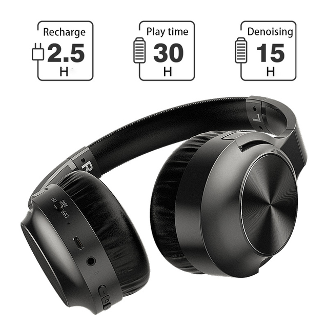 ANC Noise Cancelling Headphones Bluetooth Wireless Gamming Headset Gamer PC 3.5mm Wired PS4 Earphone Deep Bass for Laptop Tablet 4