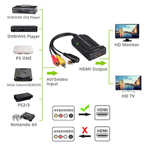 Image 4 - RCA S Video to HDMI Video Adaptor Converter With USB Cable For HDTV DVD S Video to HDMI Cable RCA/AV to HDMI