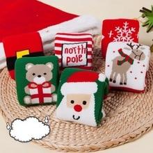 Осень-зима, рождественский подарок, Детские хлопковые теплые толстые носки, носки-тапочки, милые носки с рисунками для маленьких мальчиков и девочек