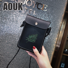 AOUK Leather Cell Phone Shoulder Pocket Wallet Pouch Bag Case with Neck Strap For Samsung S20 S10 Plus For iPhone 11 Phone Bag mbr cell power neck