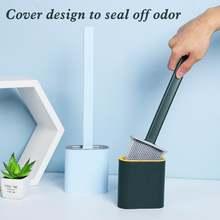 Щетка для туалета с длинной ручкой мягкая щетка чистки силиконовая