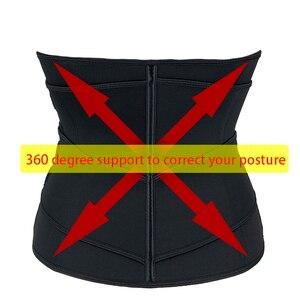 Image 4 - Mulheres cintura trainer cinto duplo sauna workout neoprene cintura cincher abdominal trimmer cinto ganchos de perda de peso correias mais tamanho