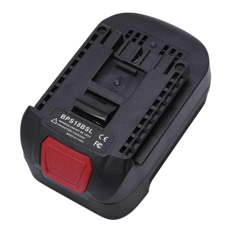 Adaptador convertidor de batería de iones de litio BPS18BSL para Decker/Stanley/portero negro Cable 18V utilizado para herramienta Bosch 18V