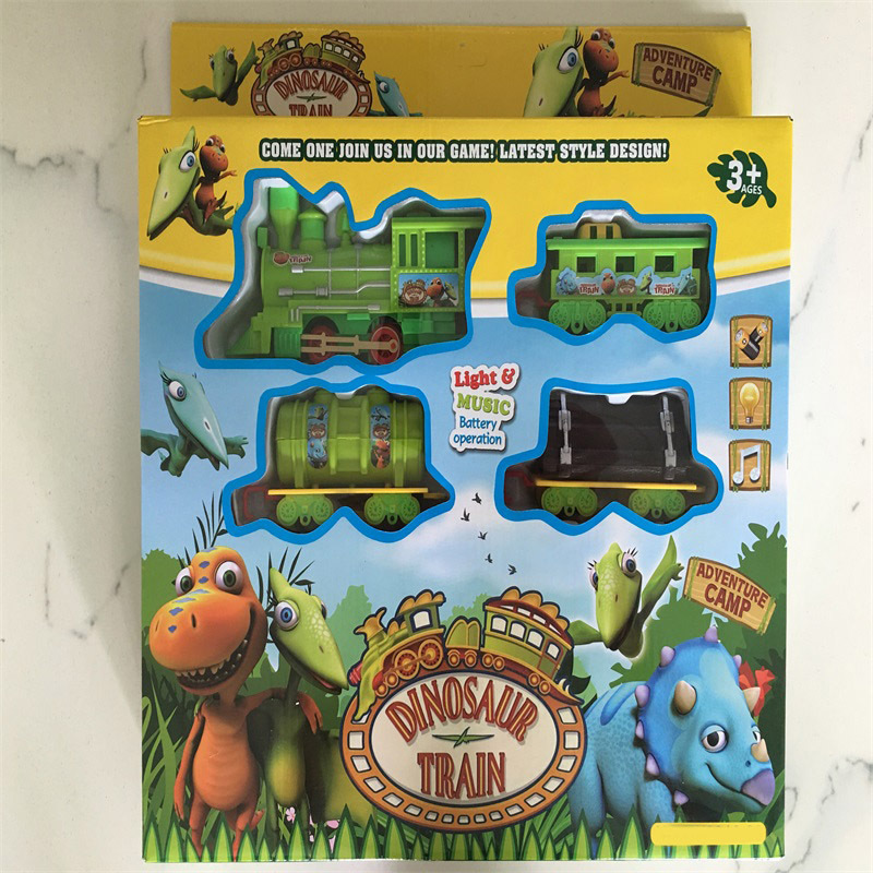 Electric Dinosaur Train Rail Train Model Model Classic Train Sound-And-Light CHILDREN'S Toy Set