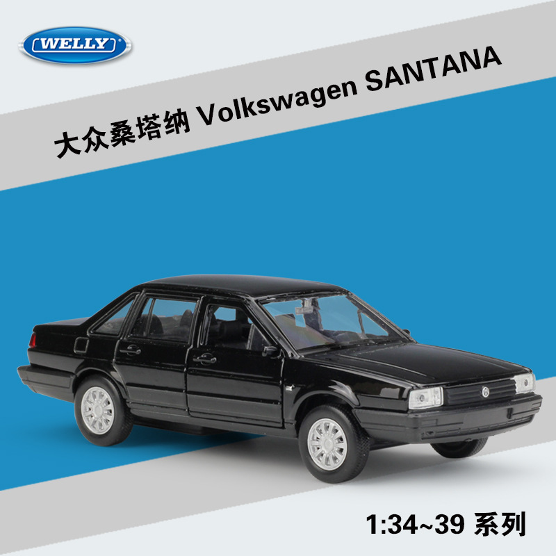 Welly 1:36 Volkswagen Santana Alloy Car Model Pull-back Vehicle Collect Gifts Non-remote Control Type Transport Toy