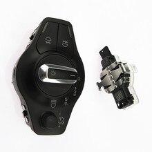 SCJYRXS 1Set Chrome Auto Headlight Fog Lights Knob Switch + Rain Sensor 8U0955559BC 8K0941531AS For A4 A5 S5 Q5 B8 8K0 941 531AS automatic headlight switch button rain sensor for audi a4 b8 q5 a5 8k0 941 531 as 8u0 955 559 b