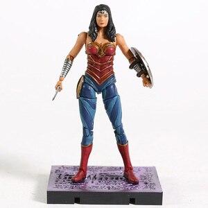 Image 5 - Hiya brinquedos injustiça 2 superman maravilha mulher coringa harley quinn flash supergirl capuz vermelho pântano coisa figura de ação brinquedo