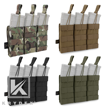 KRYDEX Modular Triple Open Top Magazine Pouch Tactical 5.56 .223 Mag Pouch 4 Colors Optional Military Shooting MOLLE Mag Carrier подсумок под магазин tasmanian tiger sgl mag pouch hz bel