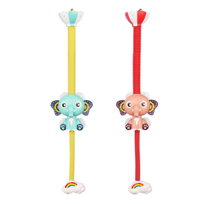 Cute Elephant Pattern Faucet Baby Water Game Shower Head Electric Water Spray Toy for Kids Bathroom Bath Toys