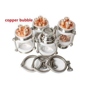 "Image 2 - copper bubble Distillation column with 4 sections for 1.5"" 3"" distiller Glass column Flute Distiller"