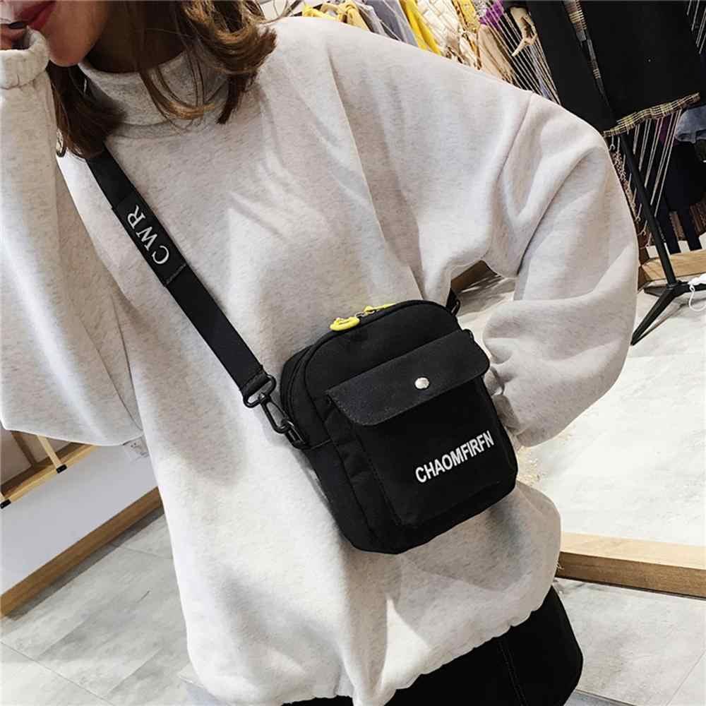 2020 女性のファッションショルダーバッグキャンバスレター印刷小さなメッセンジャーバッグ大容量屋外クロスボディハンドバッグ