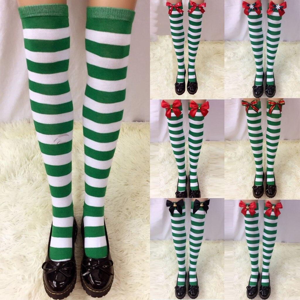 Flamingo And Girl Womens Knee High Socks Winter Warm Boot Socks Tube Stockings