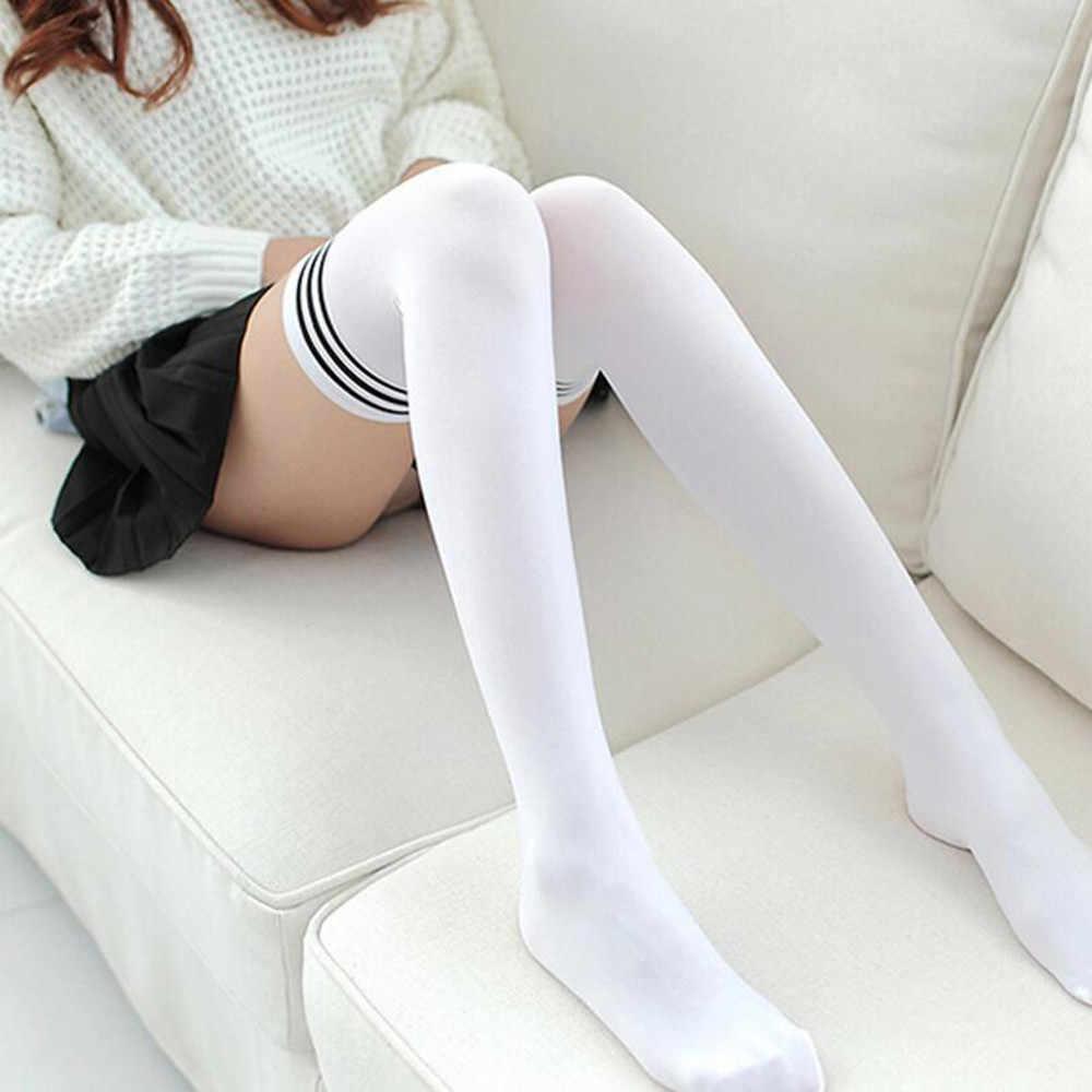 Las niñas y las mujeres larga calcetines ropa antideslizante Anti--dobladillo moda muslo por encima de la rodilla de calcetines, medias de mujer гольфы женские nuevo