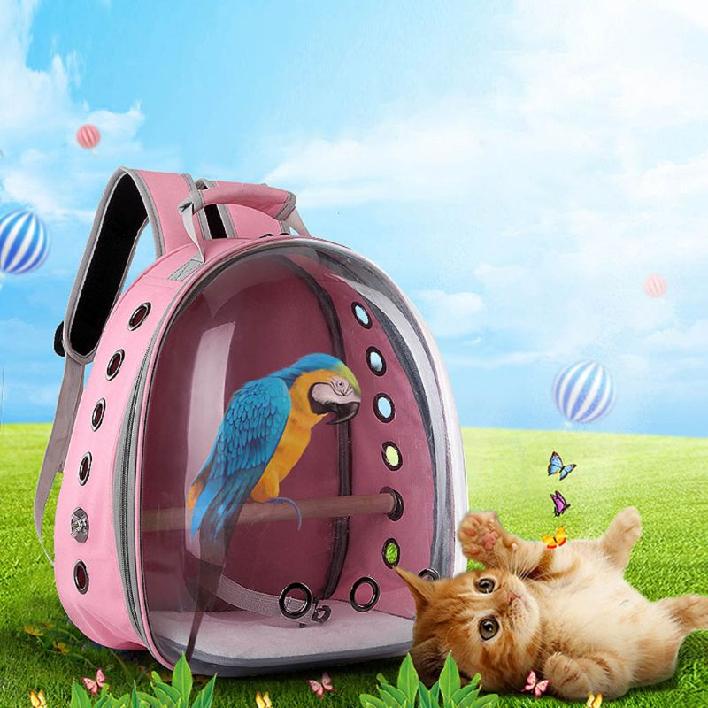 High Quality Pet Parrot Carrier Bird Travel Bag Space Capsule Transparent Backpack Breathable 360° Sightseeing A69C