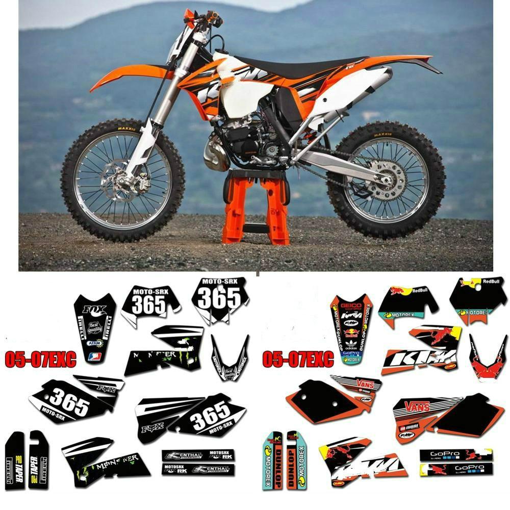 Kit D/éco Moto//MX Decal Kit KTM Sx SxF GoPro Black Edition