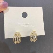 Hoop-Earrings Jewelry Circle Geometric MENGJIQIA Women Fashion Metal Zircon for Girls