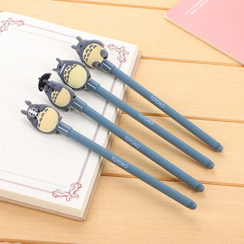 4 Pcs/Pack Cute Gel Ink Pen Kawaii Stationary My Neighbor Totoro Signature Neutral Pen For School Office Supply Gift For Girl