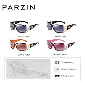 Image 2 - Parzin高級ブランドのヴィンテージ女性サングラス偏レディース女性中空レースフェミニンための駆動