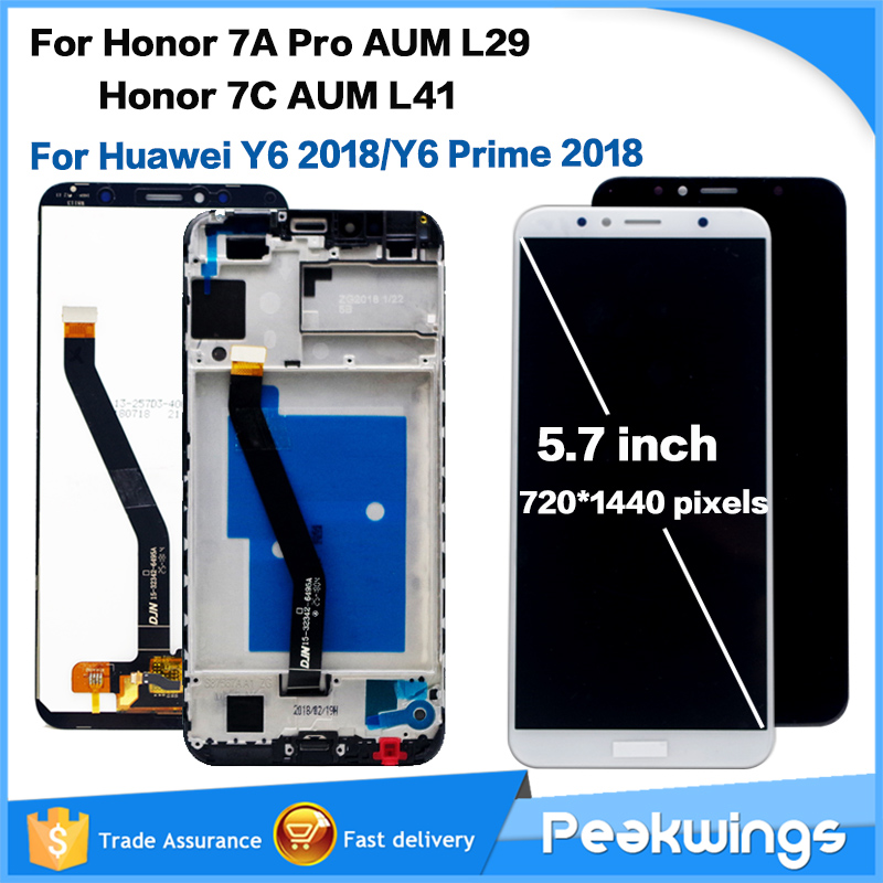5.7'' LCD For Huawei Honor 7C / Y6 2018 LCD Display Touch Screen Digitizer For Honor 7A Pro AUM-l29 AUM-L41 LCD Display Screen