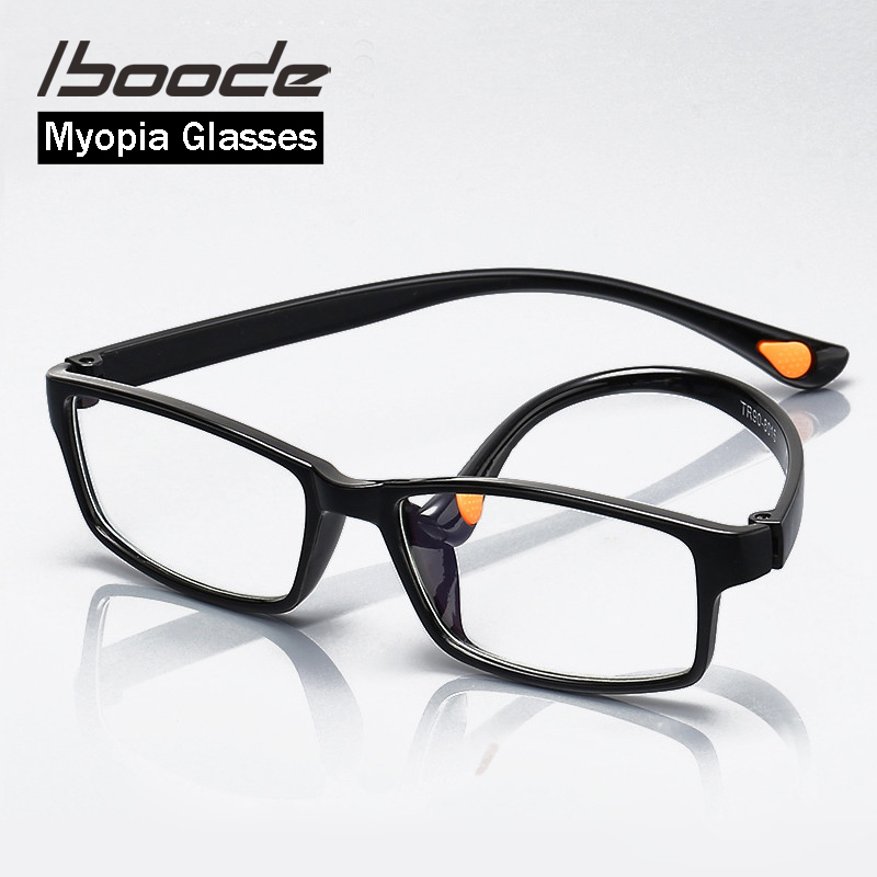 Iboode Ultralight TR90 Myopia Optical Glasses Frame Men Women Square Myopic Eyeglasses For Student With Diopter -1.0 1.5 2.0 2.5
