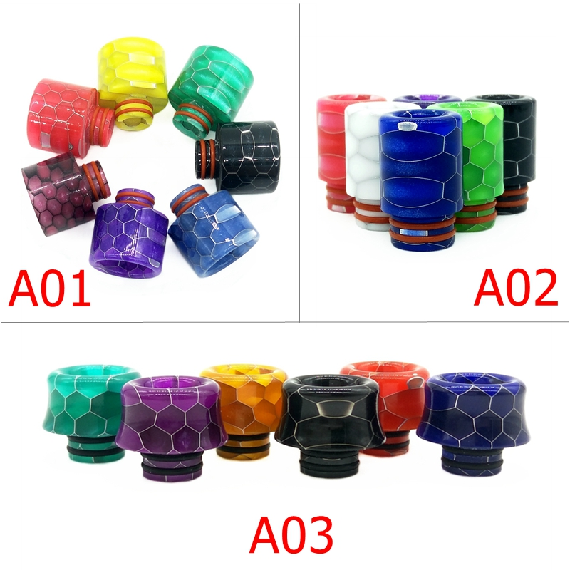 Vape 510 Drip Tip 510 810 Resin MTL 810 To 510 Drip Tip Adapter For Electronic Cigarette RDA RTA RBA RDTA Tank Atomizer Box Mod