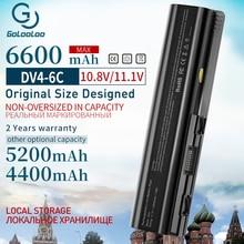 Gololoo 6600MAh 6 סוללה למחשב נייד סלולרי עבור HP Pavilion DV4 DV5 DV6 G71 G50 G60 G61 G70 HSTNN IB72 HSTNN LB72 HSTNN LB73 HSTNN UB72