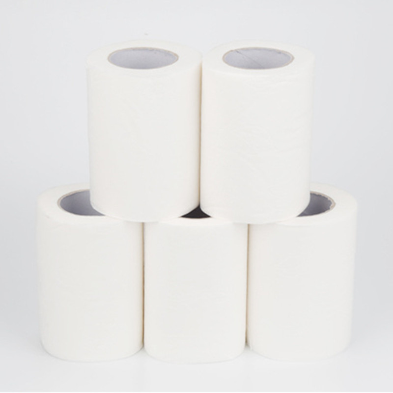 24 Pieces / Bag 4ply White Hollow Toilet Paper Replacement Roll Clean Paper Prevent Flu Cleaning Toilet Paper Sanitary 1200g