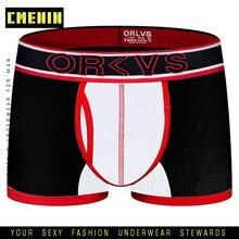 CMENIN Seksi Eşcinsel Erkekler Iç Çamaşırı Boxer Erkek Iç Çamaşırı Örgü Boxershorts Erkek Pamuk erkek Boksörler Şort Erkek Külot Cueca OR201