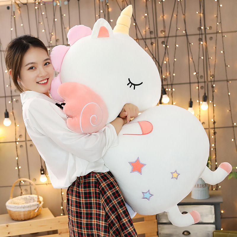 Large High Quality Soft Unicorn Plush Toy Sofa Pillow Blanket Girl Gift Toy Of Children Home Decoration