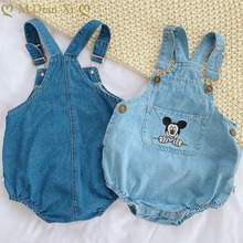 Infant Outfits Bebes Denim Clothing Bodysuits Cartoon Rompers Toddle Newborn Girls Boys