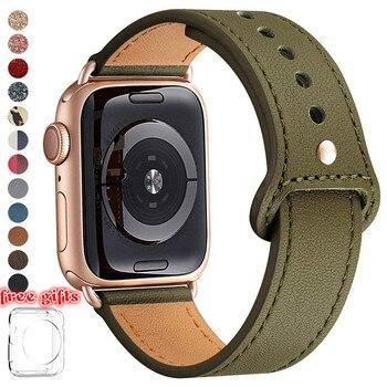 EUBBOM Genuine leather loop strap for apple watch band 42mm 44mm 38mm 40mm iwatch watchband for apple watch 6 5 4 3 2 44mm 42mm шорты спортивные nike nike ni464ewbwjd0